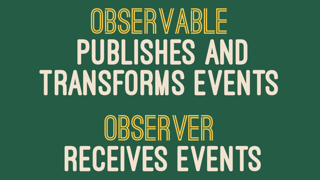 OBSERVABLE PUBLISHES AND TRANSFORMS EVENTS OBSE...