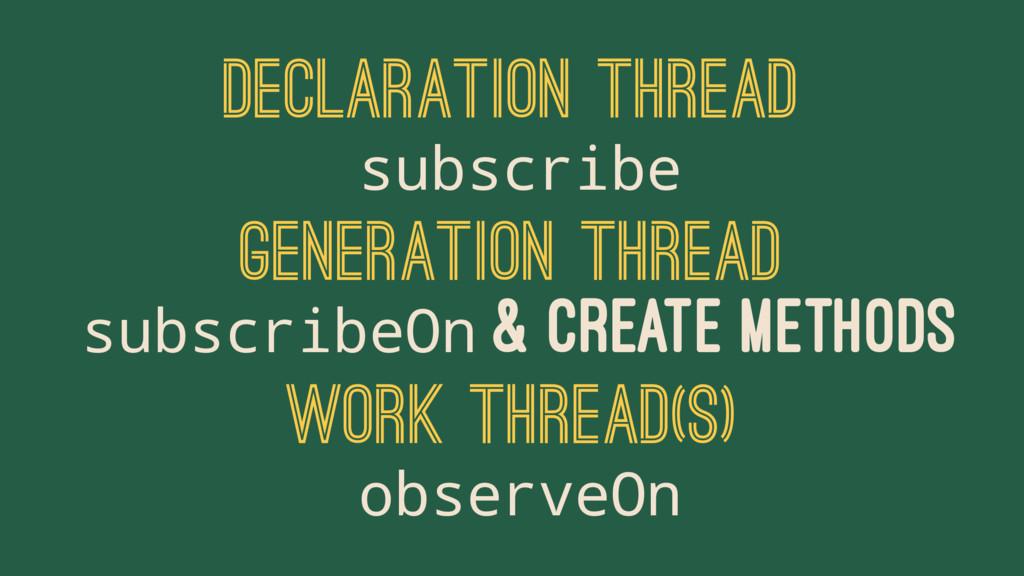 DECLARATION THREAD subscribe GENERATION THREAD ...