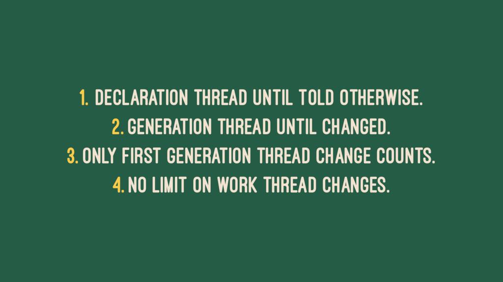 1. Declaration thread until told otherwise. 2. ...