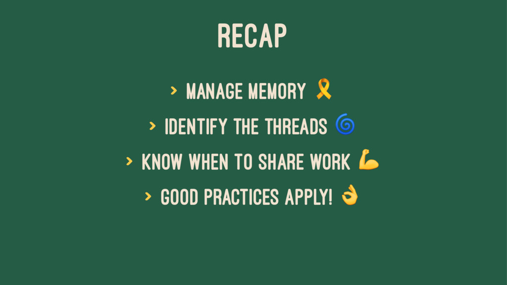 RECAP > manage memory ! > identify the threads ...