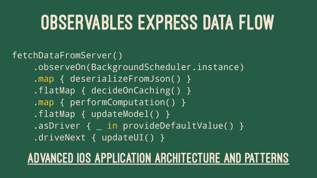 OBSERVABLES EXPRESS DATA FLOW fetchDataFromServ...