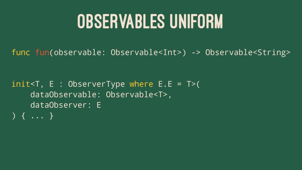 OBSERVABLES UNIFORM func fun(observable: Observ...