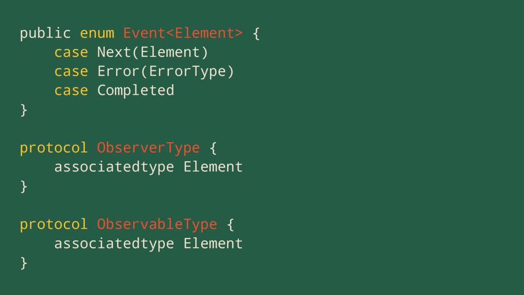 public enum Event<Element> { case Next(Element)...