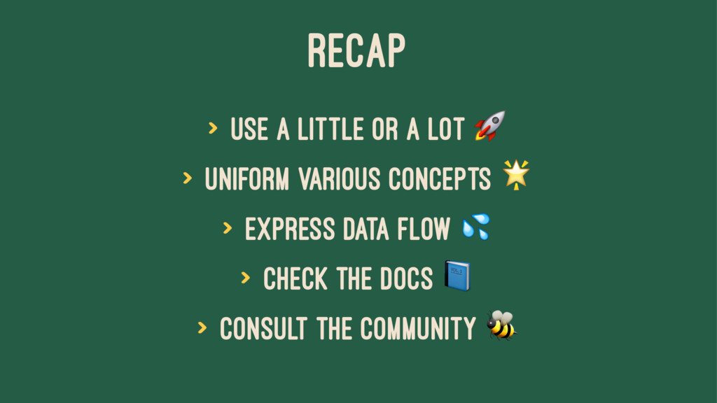 RECAP > use a little or a lot ! > uniform vario...
