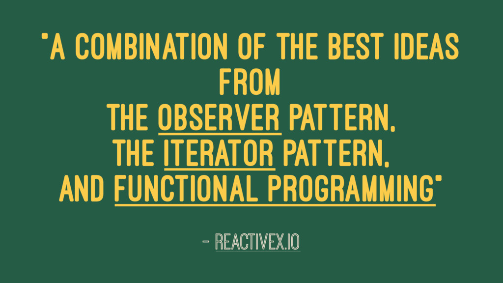 """""""a combination of the best ideas from the Obser..."""
