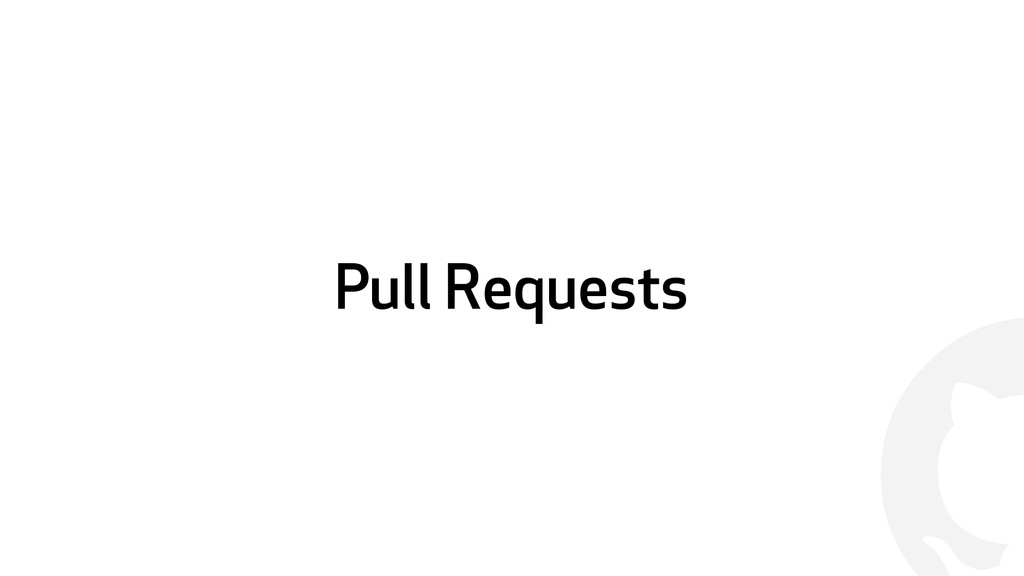! Pull Requests