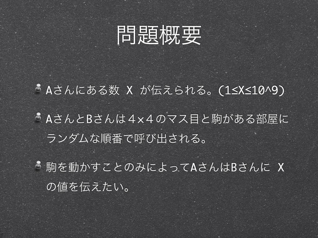 ֓ཁ A͞Μʹ͋Δ X ͕͑ΒΕΔɻ(1≤X≤10^9) A͞ΜͱB͞Μ̐×̐ͷϚε...