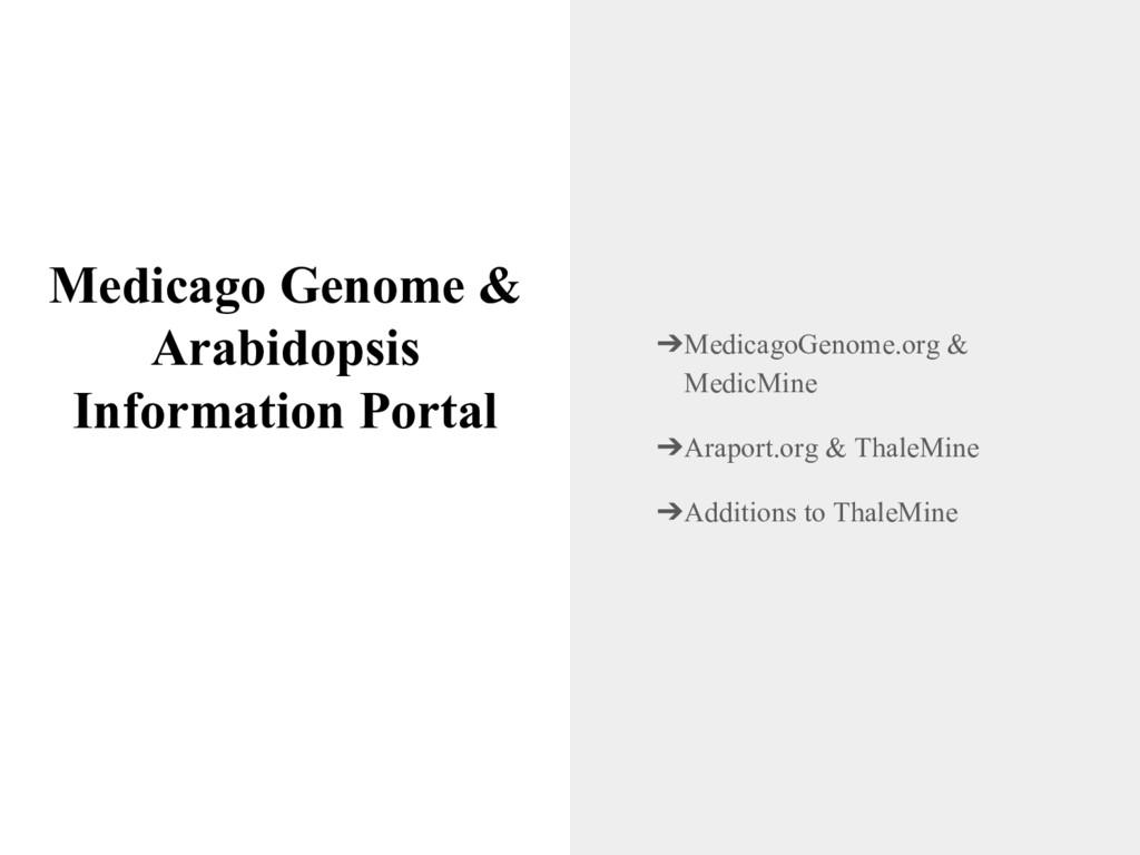 Medicago Genome & Arabidopsis Information Porta...