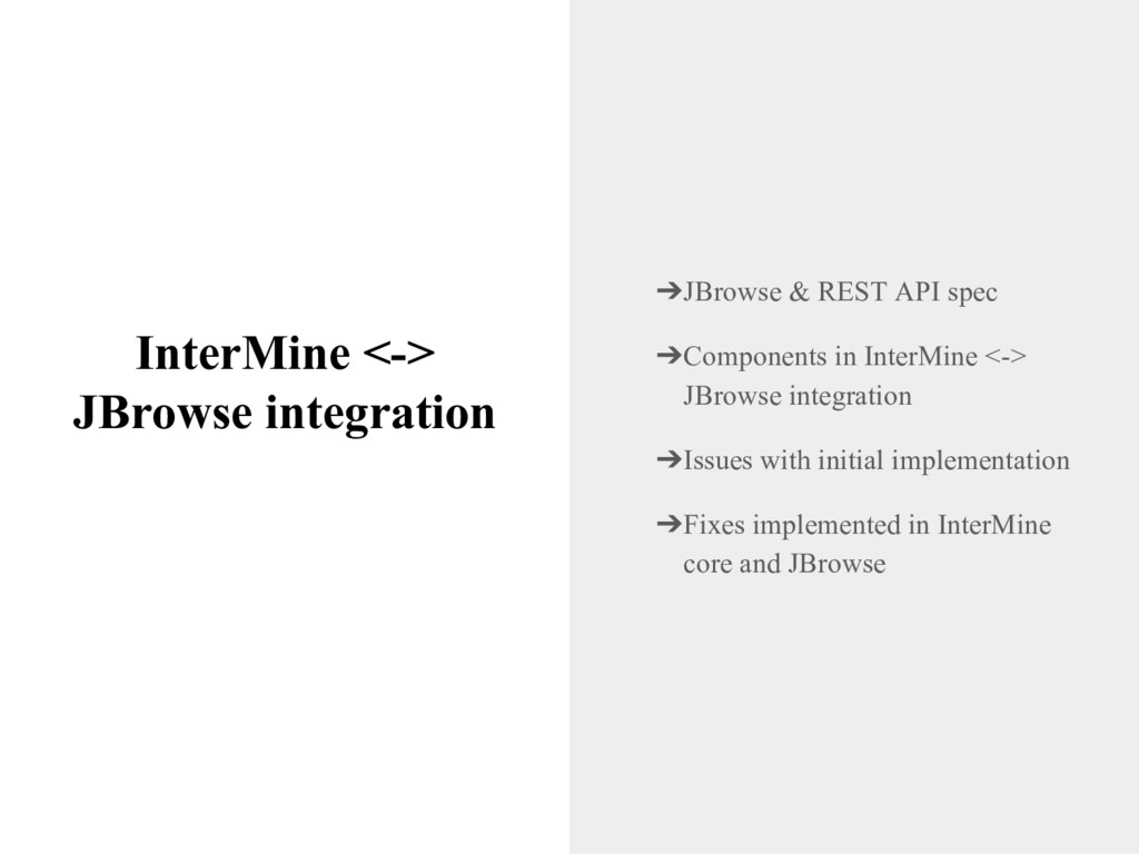 InterMine <-> JBrowse integration ➔JBrowse & RE...