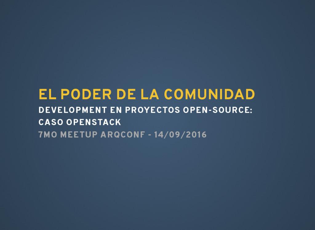 EL PODER DE LA COMUNIDAD DEVELOPMENT EN PROYECT...