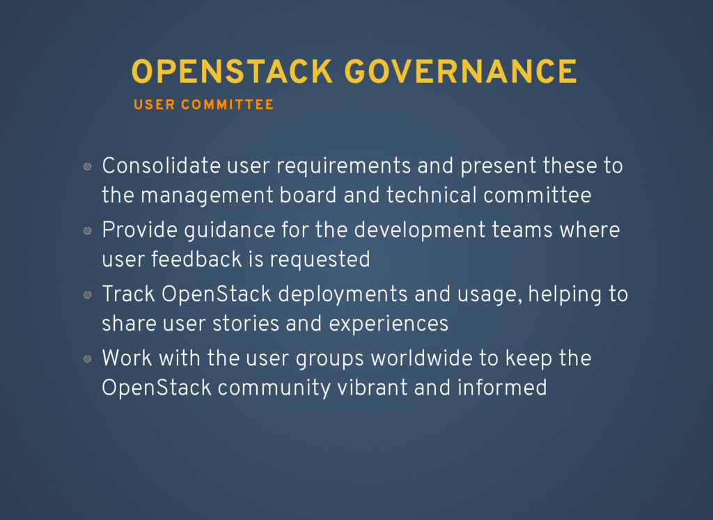 Consolidate user requirements and present these...