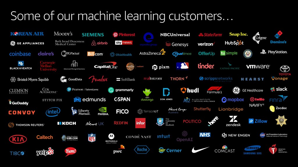 Some of our machine learning customers…