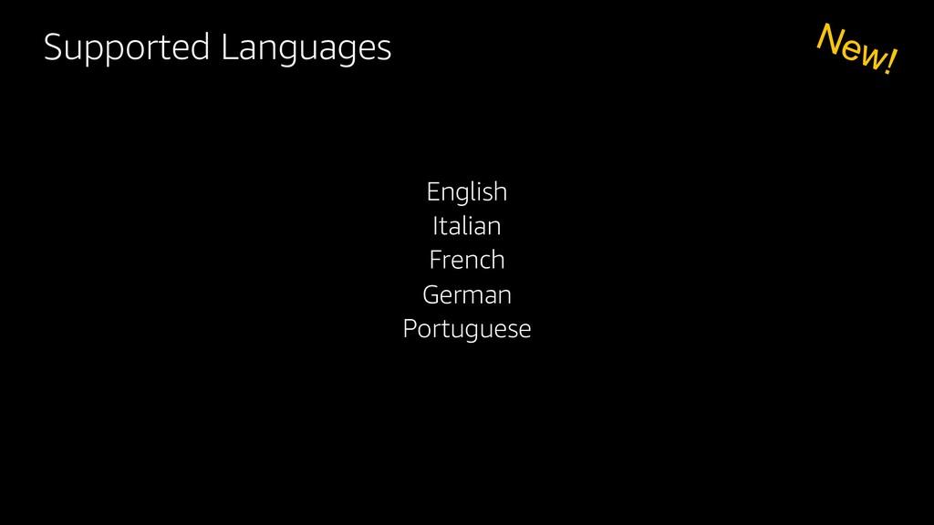 English Italian French German Portuguese New! S...