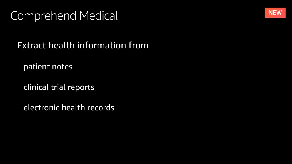 Comprehend Medical Extract health information f...