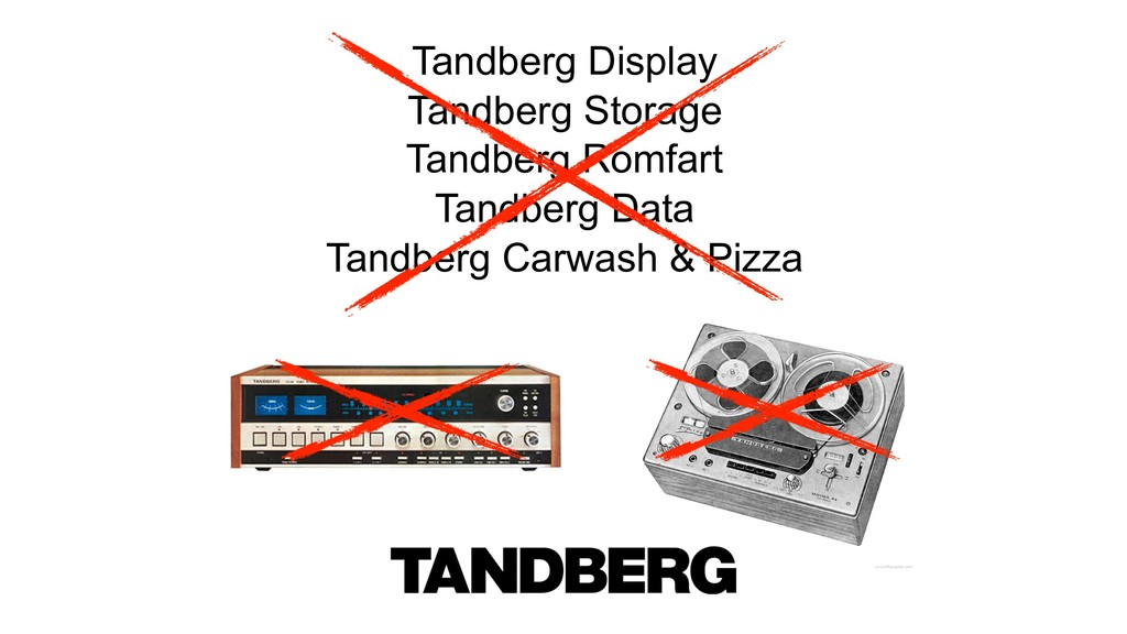 Tandberg Display Tandberg Storage Tandberg Romf...