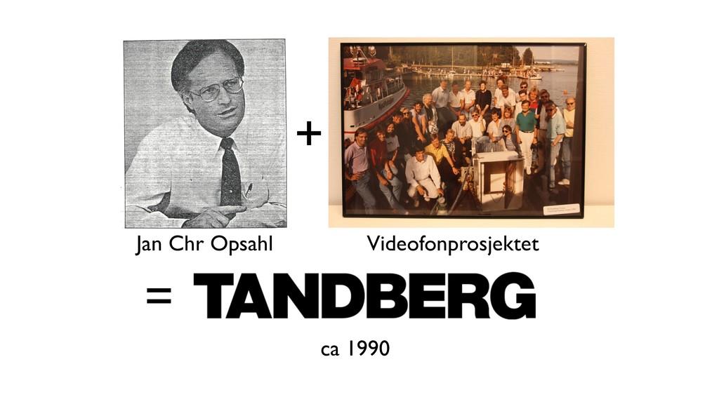 + = ca 1990 Jan Chr Opsahl Videofonprosjektet