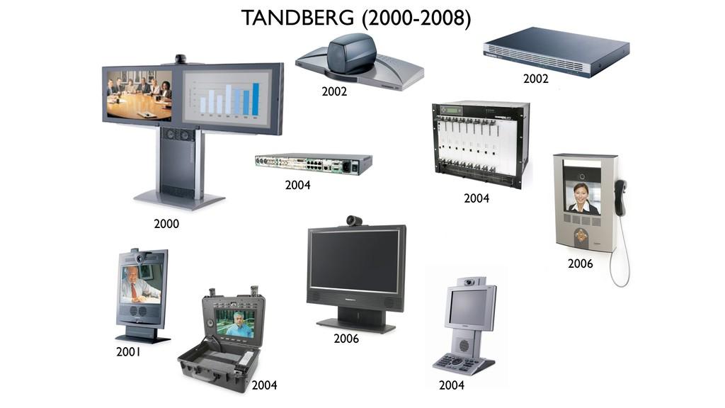 2000 2002 2001 2002 TANDBERG (2000-2008) 2004 2...