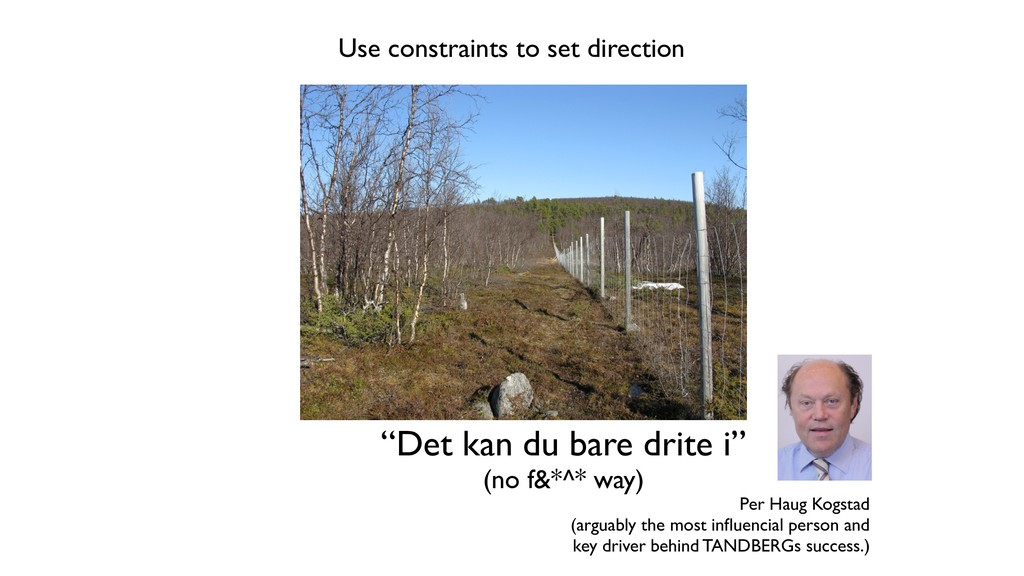 "Use constraints to set direction ""Det kan du ba..."