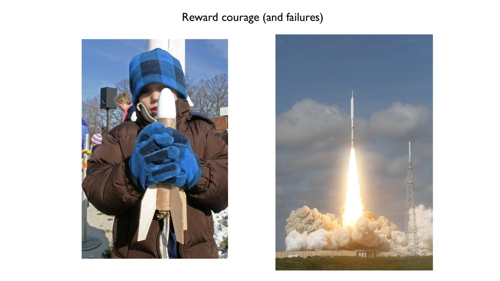 Reward courage (and failures)