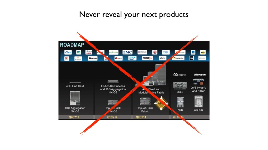Never reveal your next products