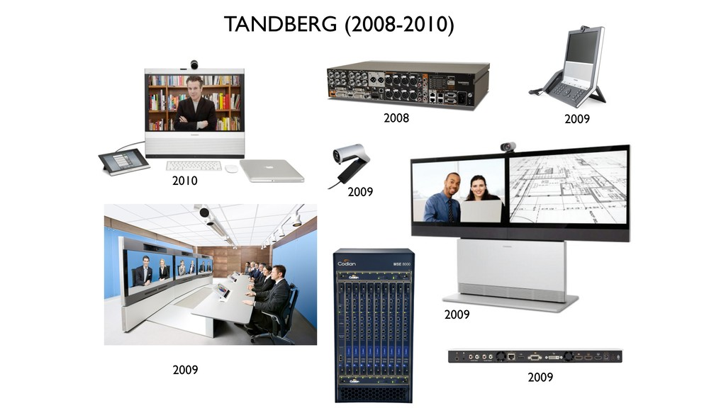 2008 2009 2009 2009 TANDBERG (2008-2010) 2010 2...