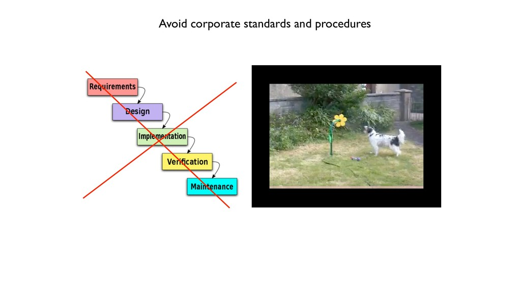 Avoid corporate standards and procedures
