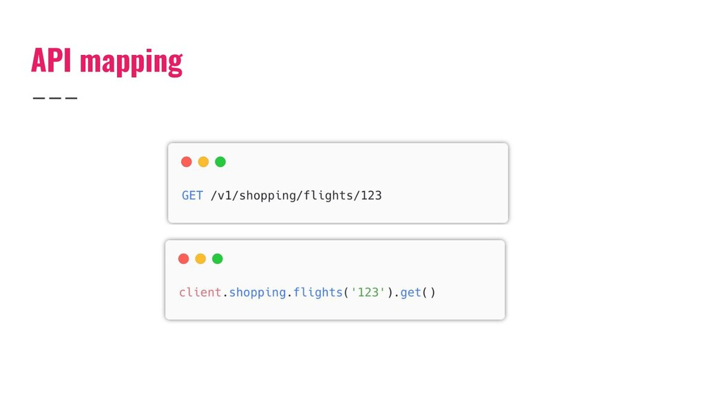 API mapping