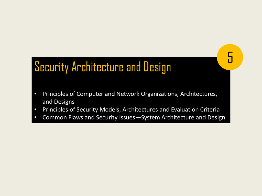Security Architecture and Design • Principles o...