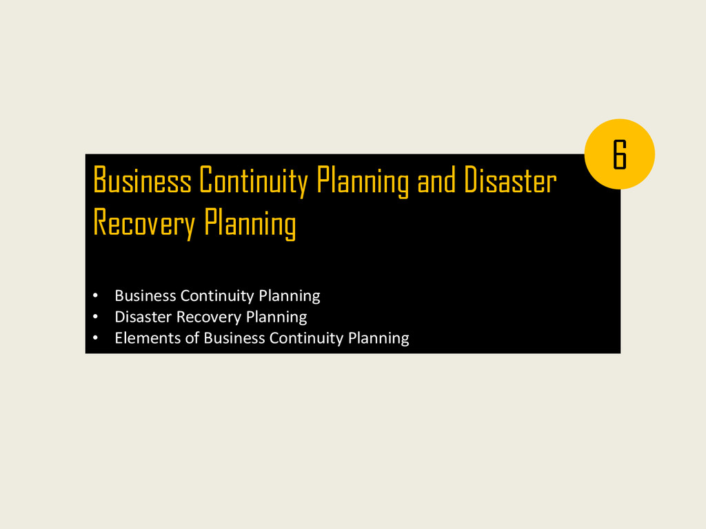 Business Continuity Planning and Disaster Recov...