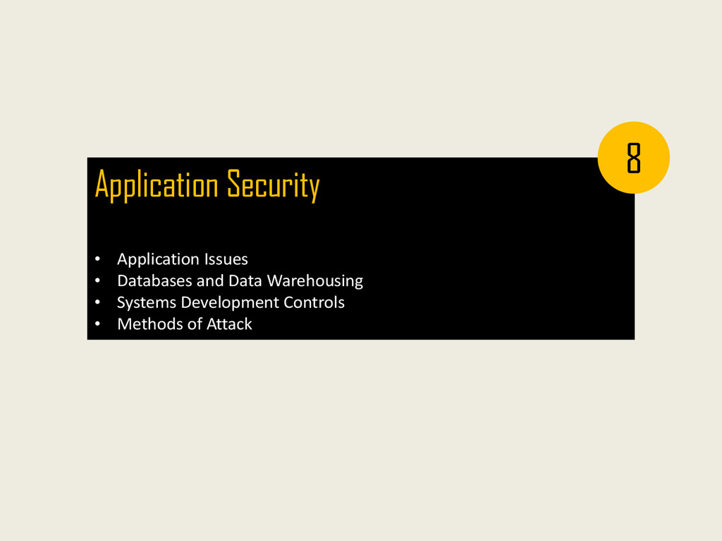 Application Security • Application Issues • Dat...
