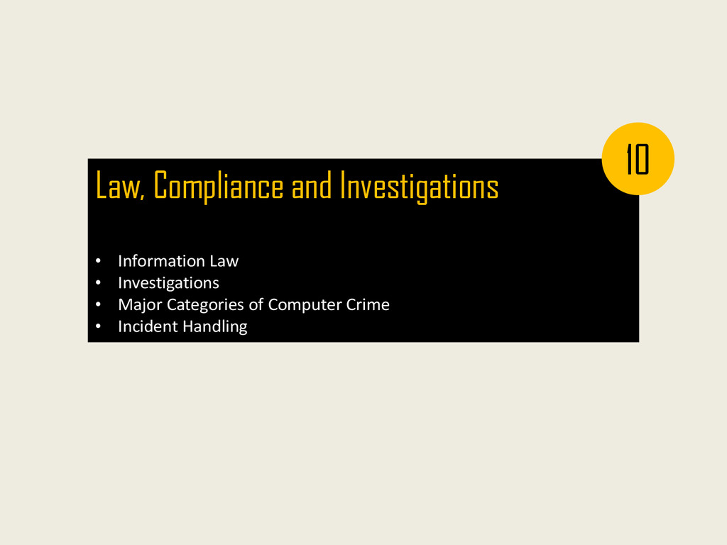 Law, Compliance and Investigations • Informatio...