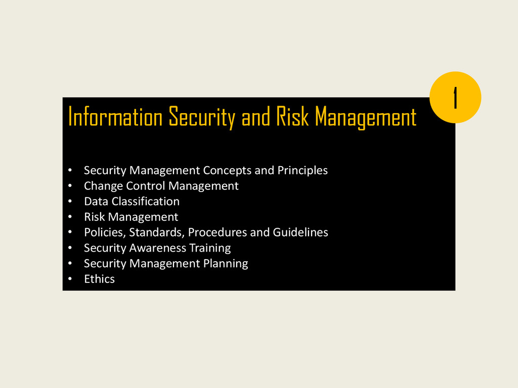 Information Security and Risk Management • Secu...