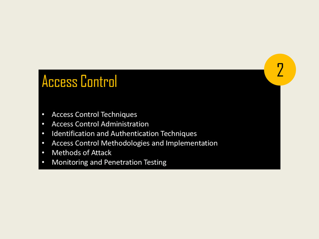 Access Control • Access Control Techniques • Ac...