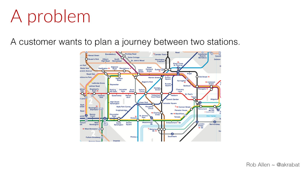 A problem A customer wants to plan a journey be...