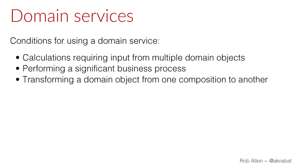 Domain services Conditions for using a domain s...