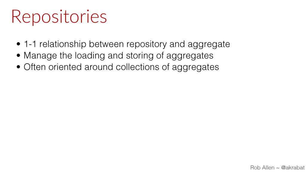 Repositories • 1-1 relationship between reposit...