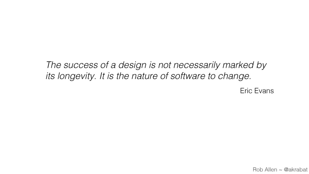 The success of a design is not necessarily mark...