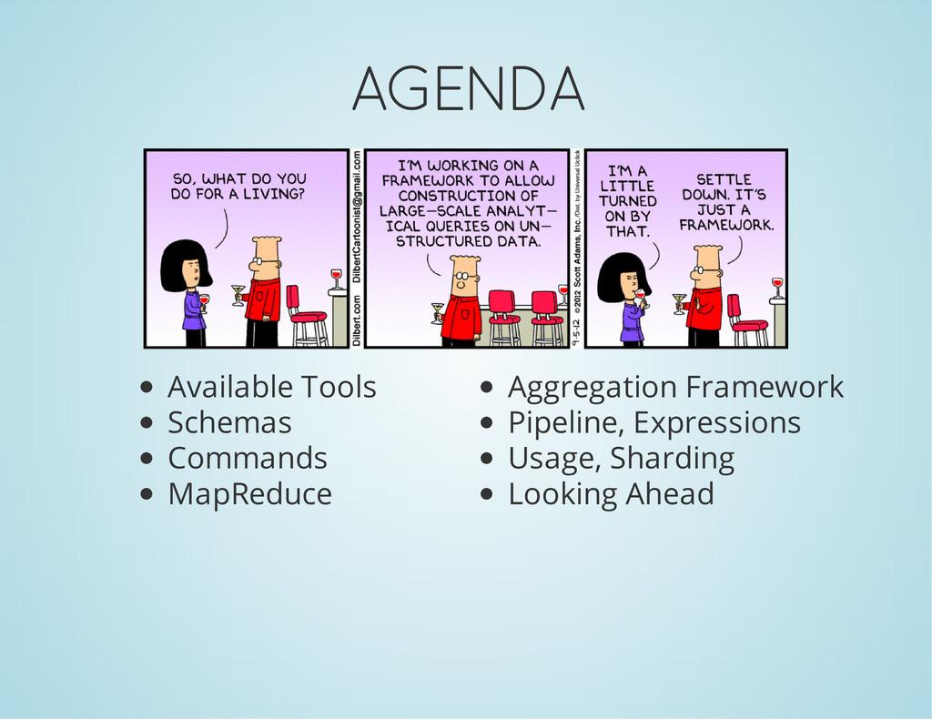 AGENDA Available Tools Schemas Commands MapRedu...
