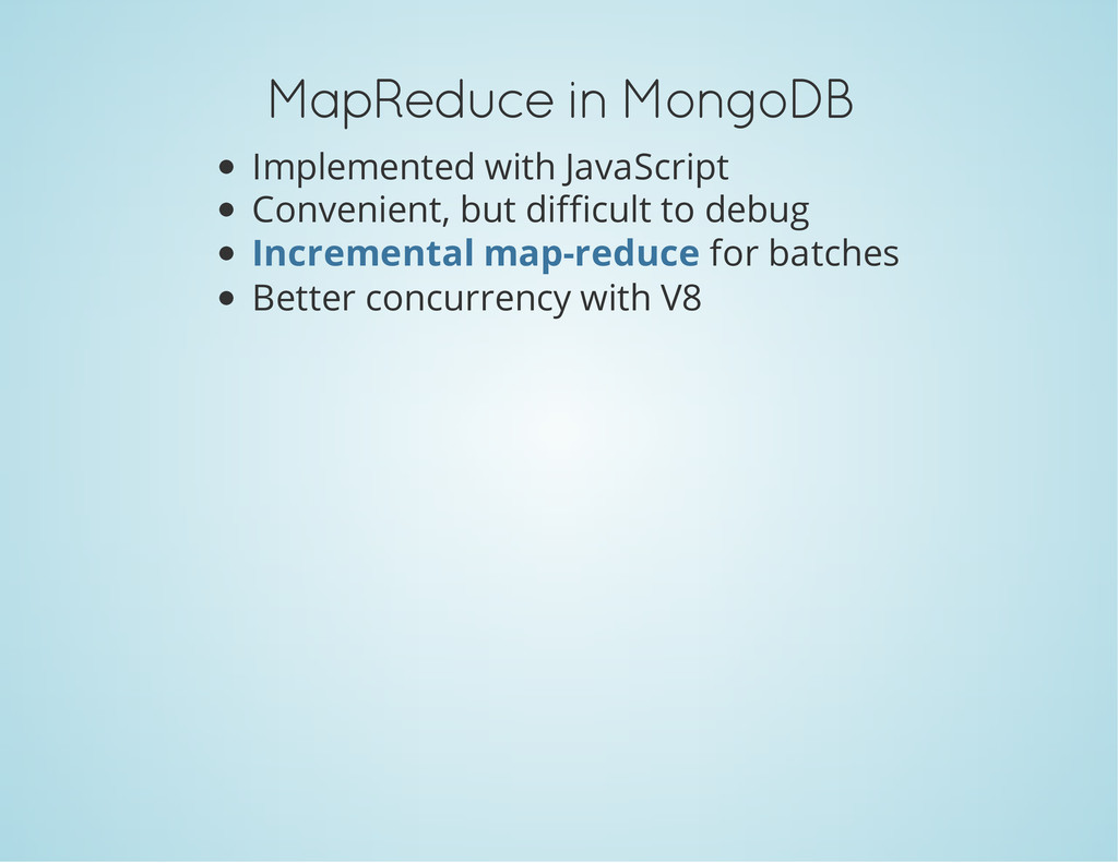 MapReduce in MongoDB Implemented with JavaScrip...