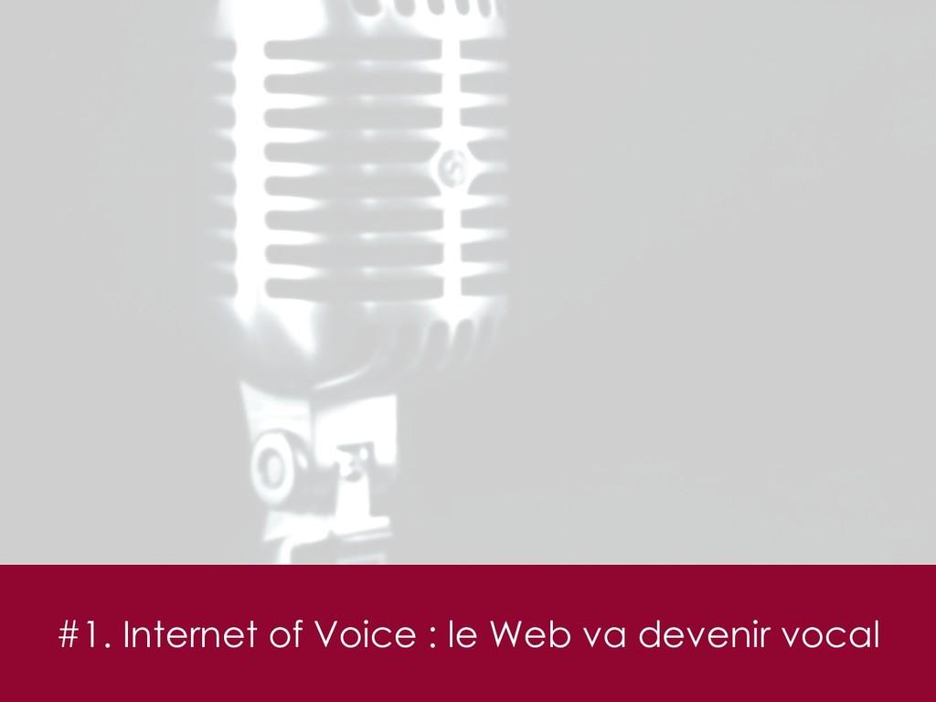 #1. Internet of Voice : le Web va devenir vocal