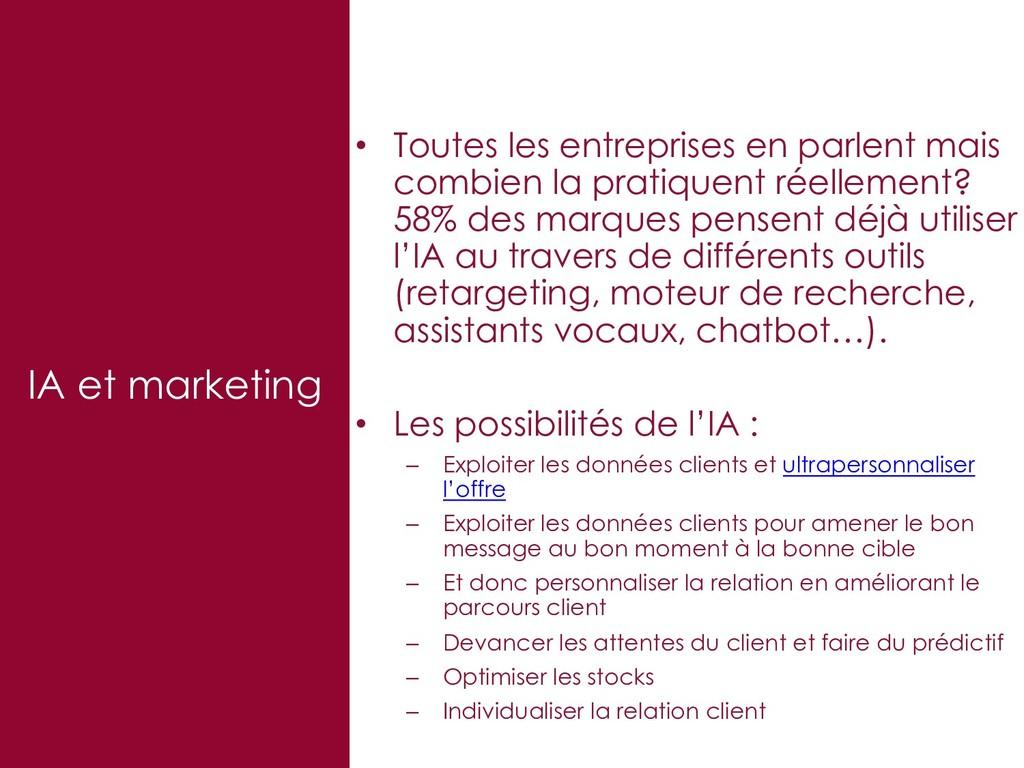 IA et marketing • Toutes les entreprises en par...