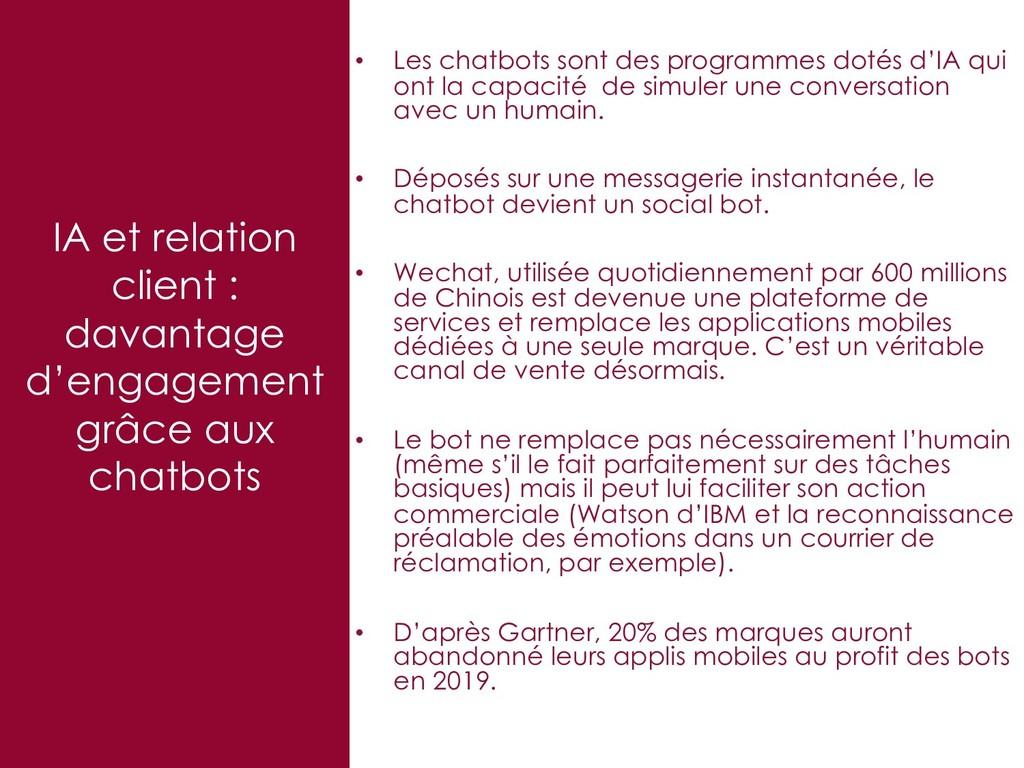 IA et relation client : davantage d'engagement ...