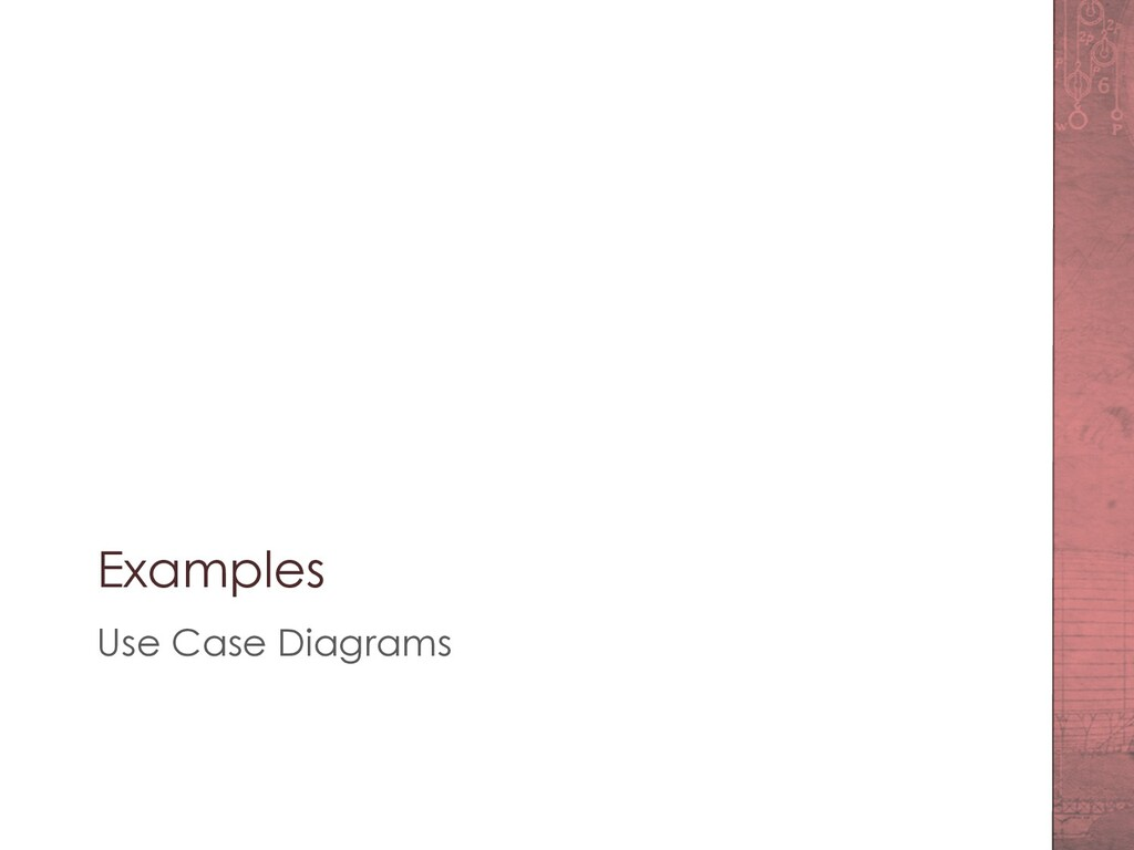 Examples Use Case Diagrams