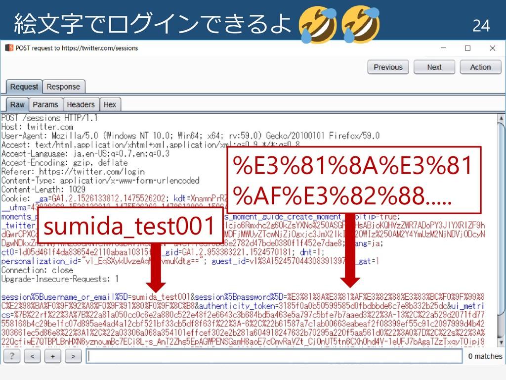 絵文字でログインできるよ 24 sumida_test001 %E3%81%8A%E3%81 ...