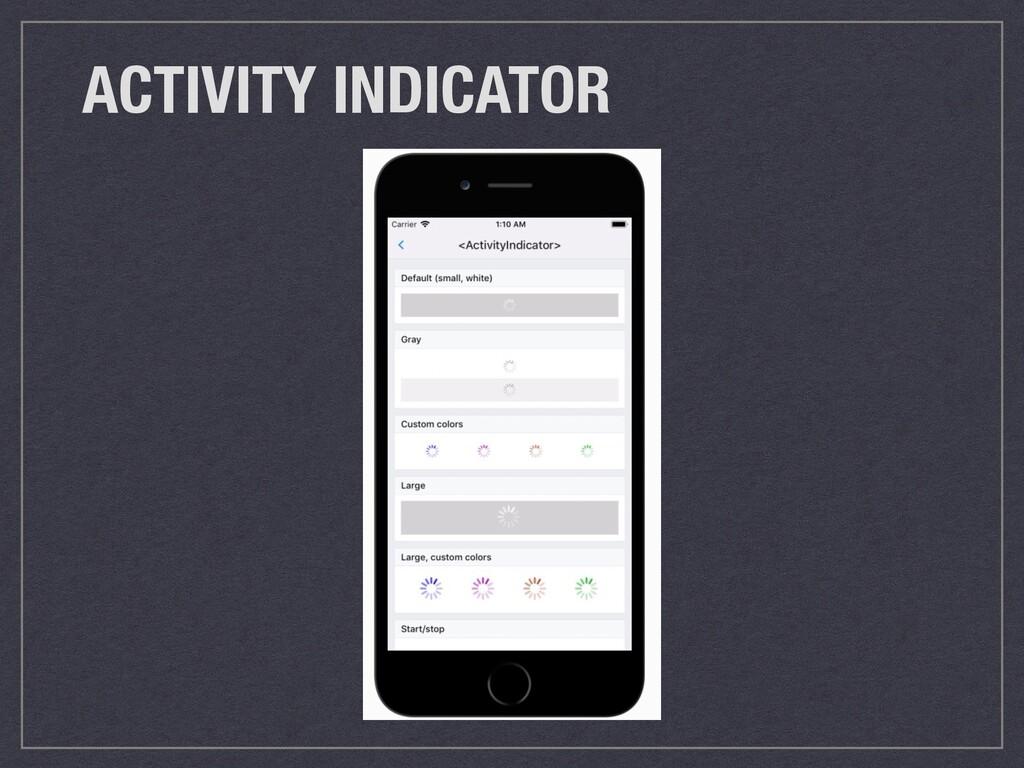 ACTIVITY INDICATOR
