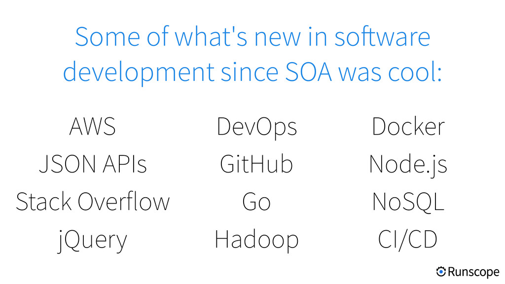 Some of what's new in software development sinc...