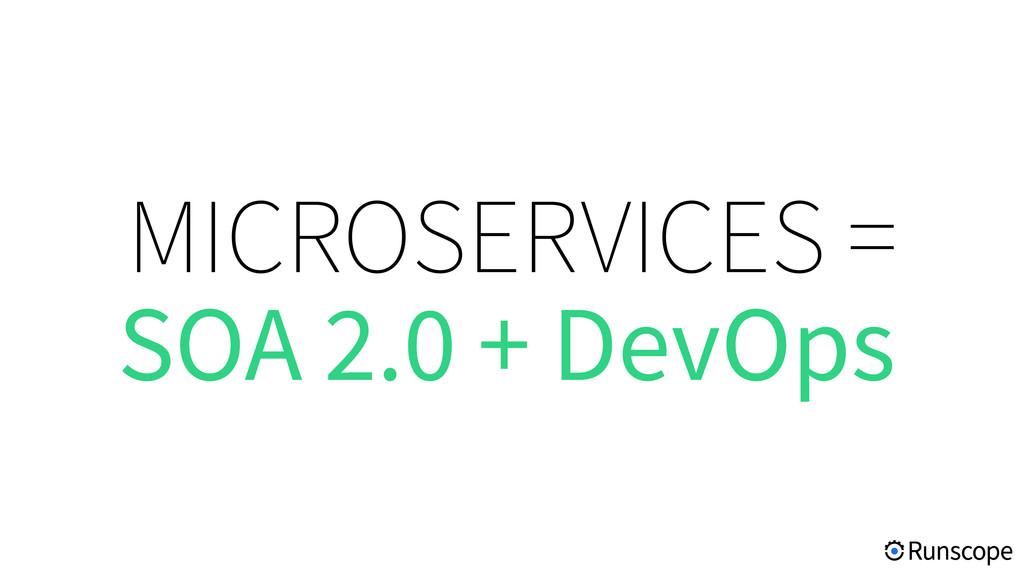 MICROSERVICES = SOA 2.0 + DevOps