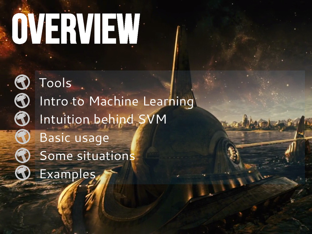 OVERVIEW Tools Intro to Machine Learning Intuit...