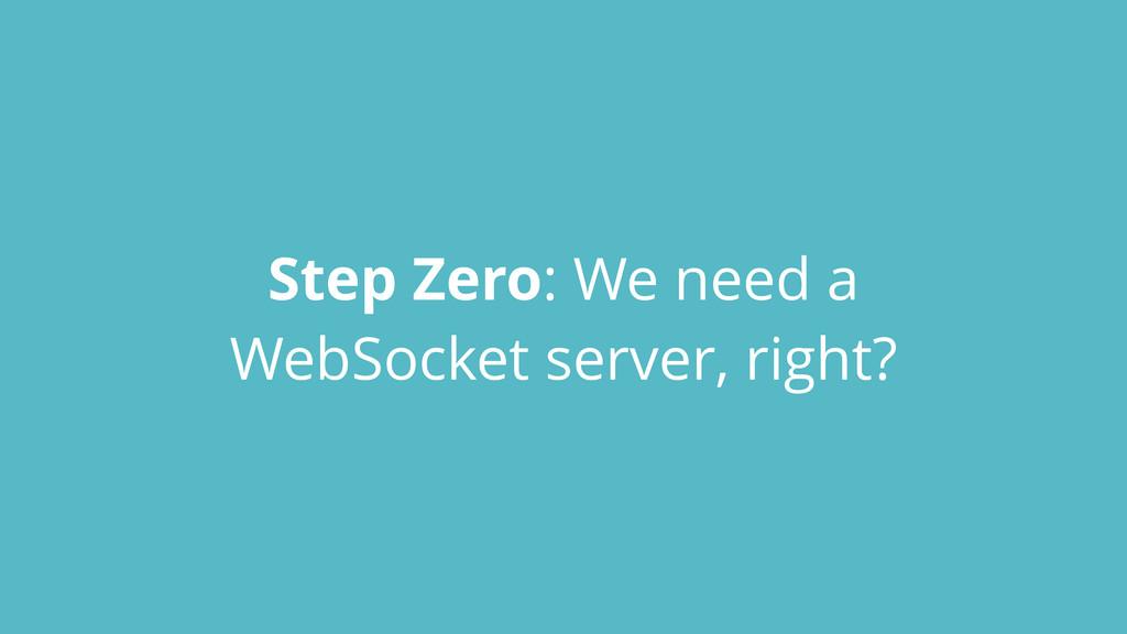 Step Zero: We need a WebSocket server, right?