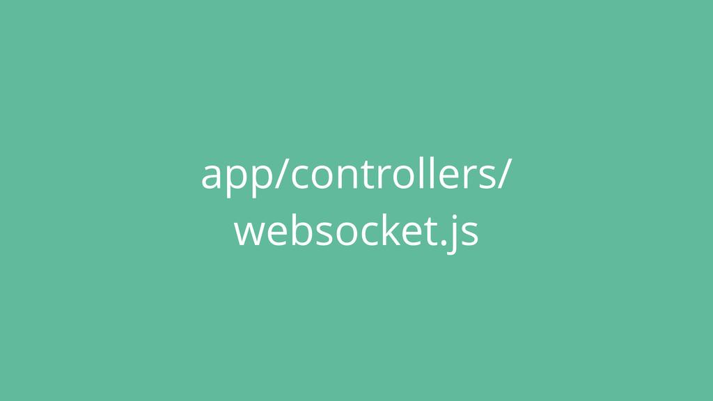 app/controllers/ websocket.js